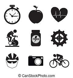 ícones, girar