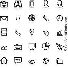 ícones, jogo, esboço, negócio, 1.