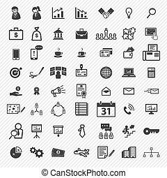 ícones, set., negócio ilustração