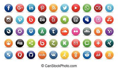 ícones, social, 50