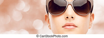 óculos de sol, modelo, moda, jovem