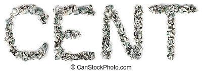 -, 100$, crimped, centavo, contas