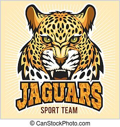 -, desenho, desporto, equipe, jaguares