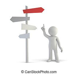-, fazer, melhor, pessoas, pequeno, decisões, 3d