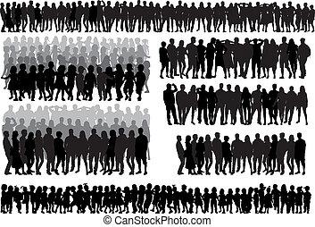 -large, grupo, cobrança, pessoas