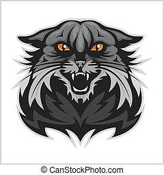 -, wildcat, team., desporto, mascote