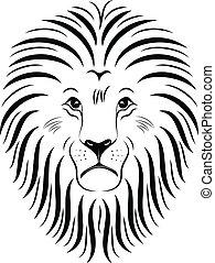 01, leão, rosto