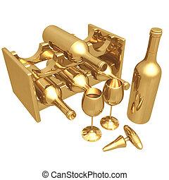 02, dourado, vinho