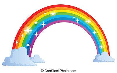 1, arco íris, imagem, tema