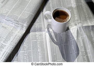 1, café, mapa, estoque
