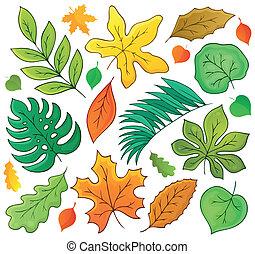 1, folhas, tema, cobrança