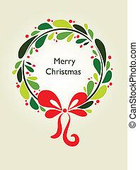 1, grinalda, -, cartão natal