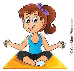 1, imagem, ioga, tema