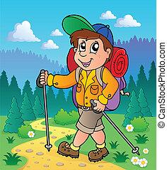 1, imagem, tema, hiking