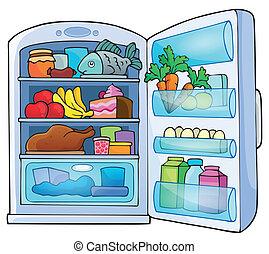 1, imagem, tema, refrigerador