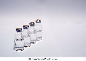 1, médico, frascos