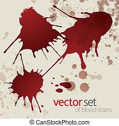 1, manchas, jogo, splattered, sangue