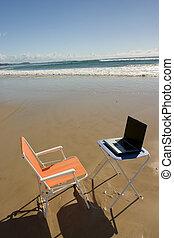 1, praia, escritório