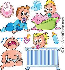 1, tema, bebês, cobrança