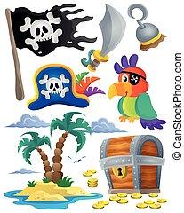 1, tema, jogo, pirata