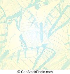 10, butterflies., seamless, eps, vetorial, padrão