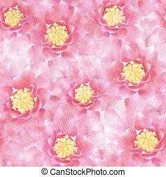 10, padrão, eps, seamless, flowers., vetorial