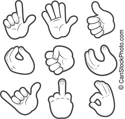 #2, caricatura, mãos