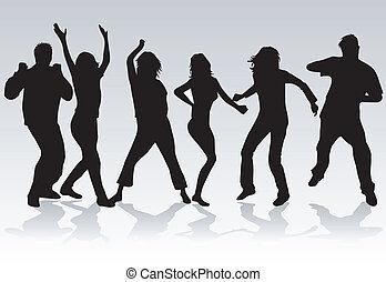 2 pessoas, dançar