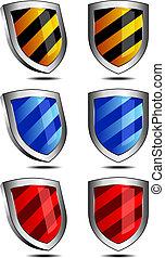 2d, escudos, 3d