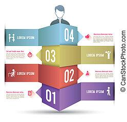 3d, barzinhos, opções, infographics