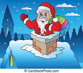 4, tema, inverno, cena natal