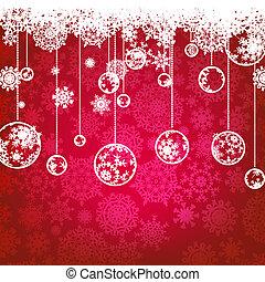8, holiday., inverno, cartão, eps, natal
