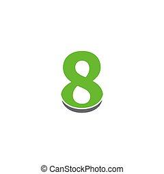 8, logotipo, desenho, ícone, número, conceito