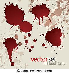 9, manchas, jogo, splattered, sangue