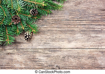 abeto, madeira, árvore, natal, fundo
