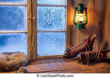 abrigo, morno, inverno, dia, gelado
