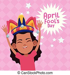 abril, fools, caricatura, dia