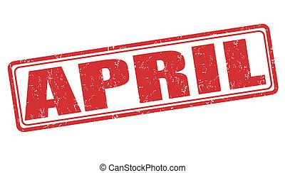 abril, selo