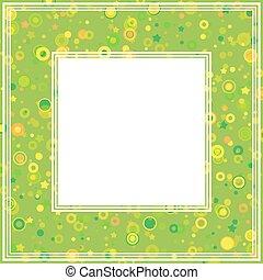 abstrato verde, borda