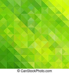 abstrato verde, triangulo, fundo