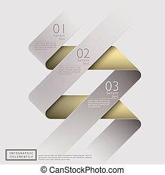 abstratos, 3d, clássicas, fita, infographics