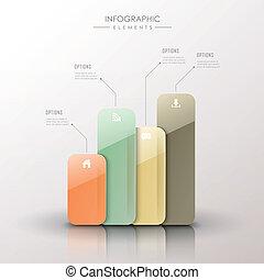 abstratos, 3d, mapa barra, infographics
