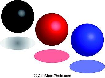 abstratos, bola, isolado, fundo, branca