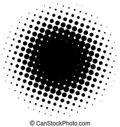 abstratos, círculo, halftone