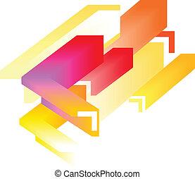abstratos, -, coloridos, fundo, 3