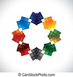 abstratos, estrela, semelhante, coloridos, símbolo, criativo, vetorial, desenho