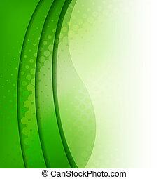 abstratos, experiência verde