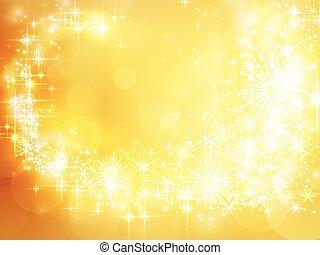 abstratos, feriado, natal, experiência dourada, estrela