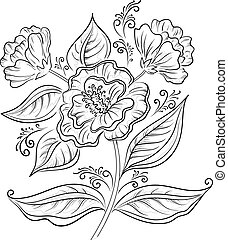 abstratos, flor, esboço