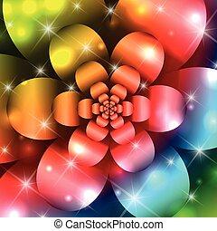 abstratos, flor, fundo